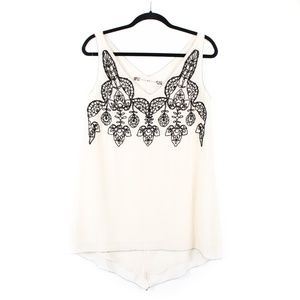 CHELSEA & VIOLET Bead Embellished Tank Small *X278